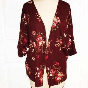 Wine Country A'Gaci Floral Kimono L